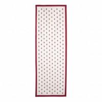 "Kom Amsterdam Tablerunner ""Fleur de Lys"" 45x150 cm, Red"