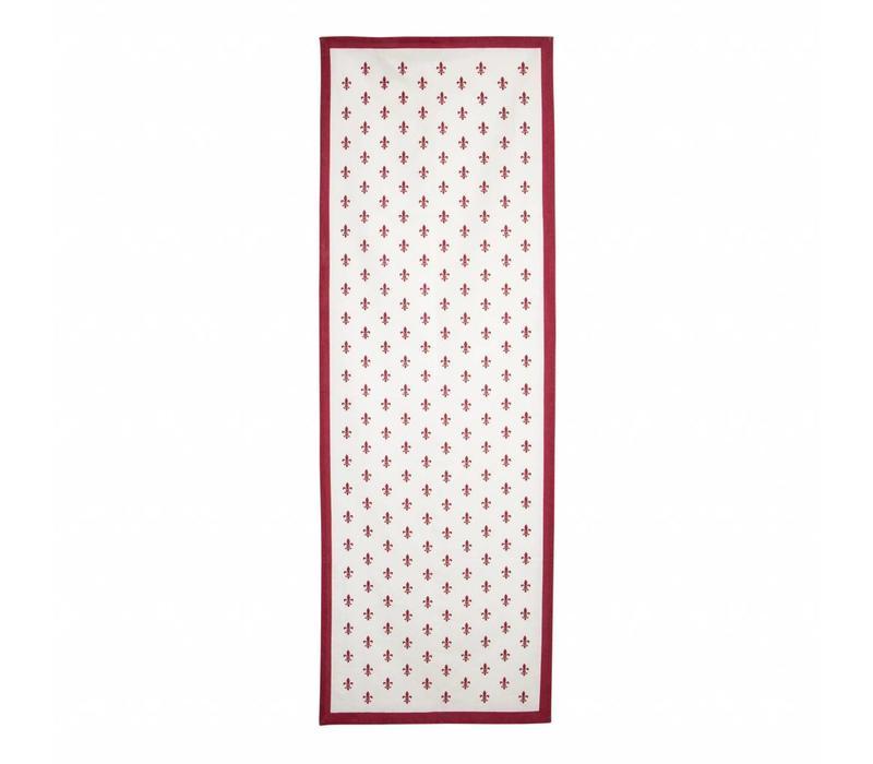 Tischläufer 45x150 cm Fleur de Lys Rot