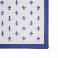 Tafelloper 50x150 cm Fleur de Lys, Blauw