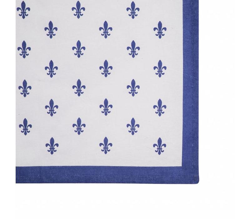 Tischläufer 45x150 cm Fleur de Lys Blau