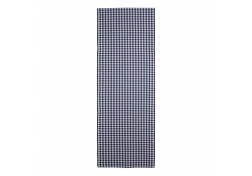 "Kom Amsterdam Kom Amsterdam Table Runner ""Check""45x150 cm, Blue"