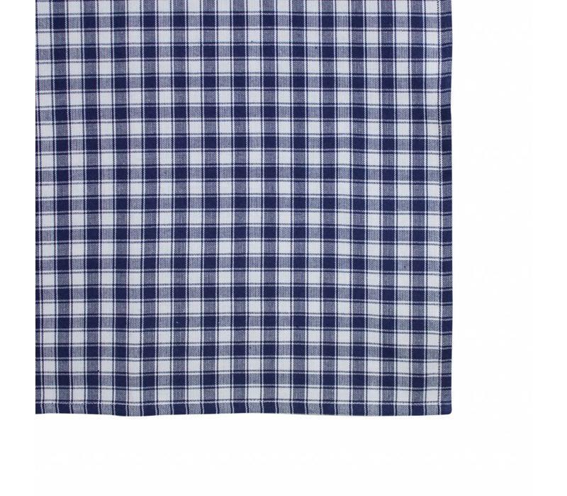 Tischläufer 45x150 cm Check Blau