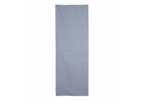 "Kom Amsterdam Kom Amsterdam Table Runner ""Stripe"" 45x150 cm, Blue"