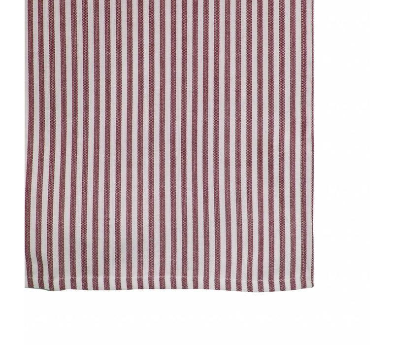 Tischläufer 45x150 cm Streife Rot