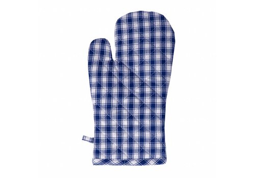 Kom Amsterdam Oven Glove, Thermal Lining Feston, Blue