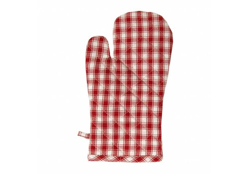 Kom Amsterdam Oven Glove, Thermal Lining Feston, Red