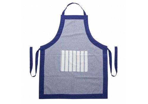 "Kom Amsterdam Kom Amsterdam Apron ""Feston"" Adjustable Length, Blue"