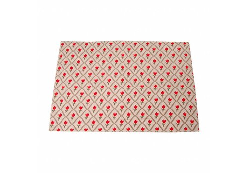 5f6c8cf242a Kom Amsterdam Placemat 33x47 cm Tulip, Red