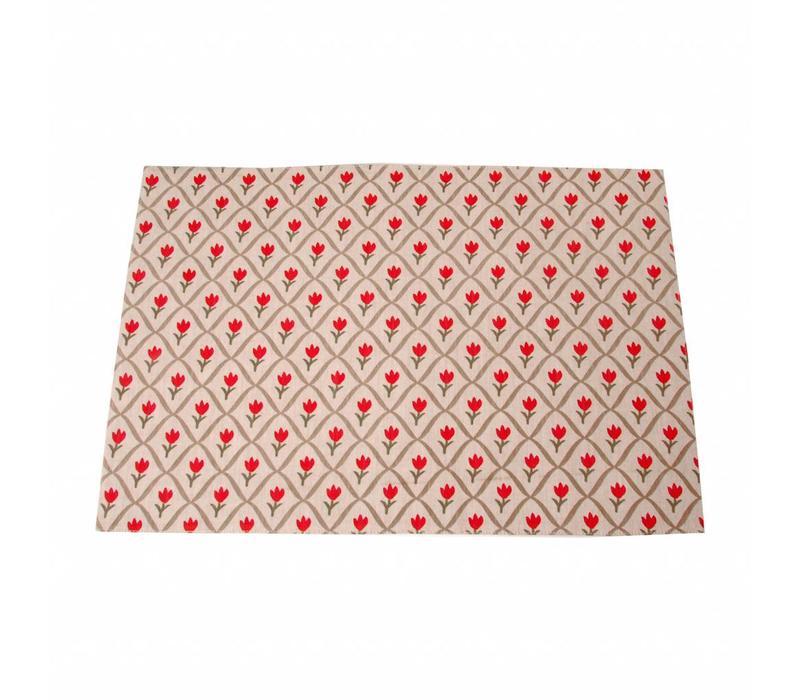 Placemat 33x47 cm Tulip, Rood