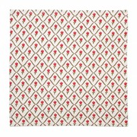 "Kom Amsterdam Set 4 Napkins ""Tulip"" 40x40 cm, Red"