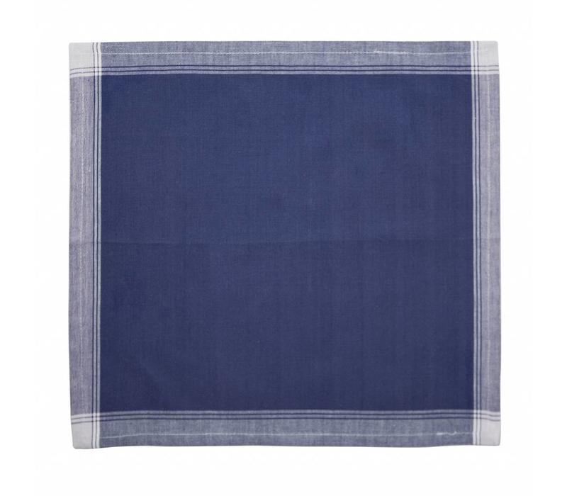 Set van 4 Servetten 40x40 cm Feston, Blauw