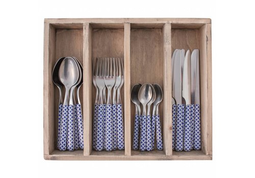 Kom Amsterdam Provence Cutlery Set 24 pcs Retro Blue