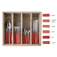 Provence Cutlery Set 24-piece Mix Red