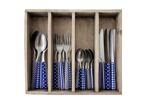 Kom Amsterdam Provence Cutlery Set 24-piece Mix Blue