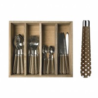 Campagne Set 24-teilig Snow, Taupe