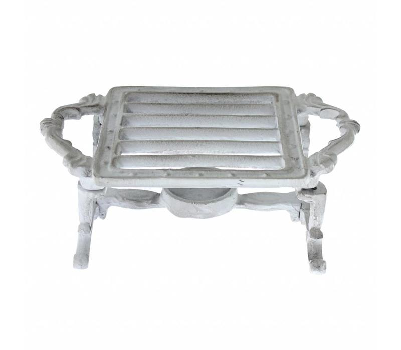 French Kitchen Collection Food Warmer Square 20x12xH8 cm Antique Grey