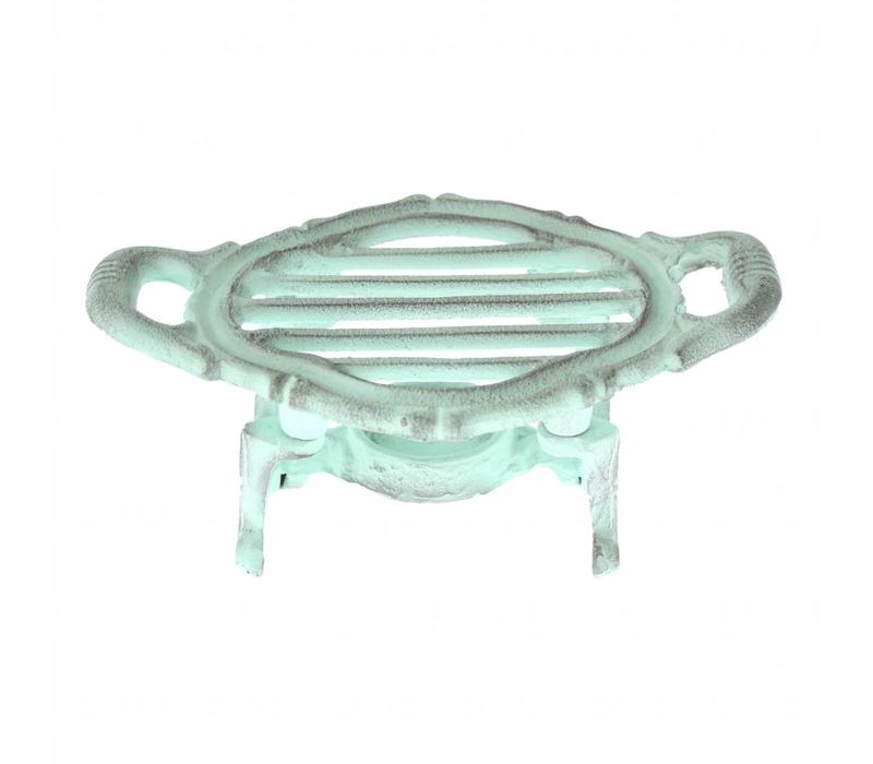 French Kitchen Collection Kleines Rechaud Oval Gusseisen Antic Grün