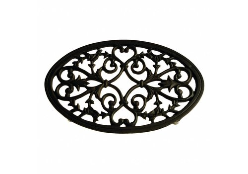 French Kitchen Collection French Kitchen Collection Trivet Oval Large 31x20xH2 cm Black/Brown