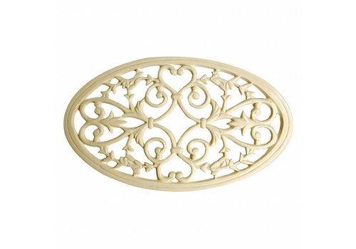 French Kitchen Collection French Kitchen Collection Oval Trivet Large Iron, Cream