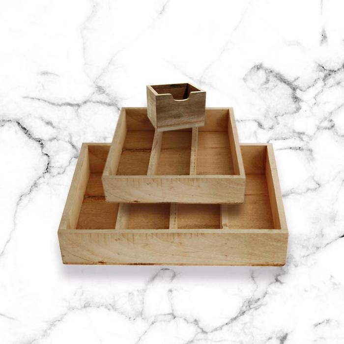 Wooden cutlery trays