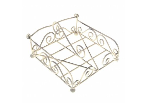 French Kitchen Collection French Kitchen Collection Napkin Holder 19x19xH11 cm Antique Ivory