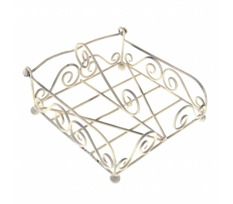 French Kitchen Collection Napkin Holder 19x19xH11 cm Antique Ivory