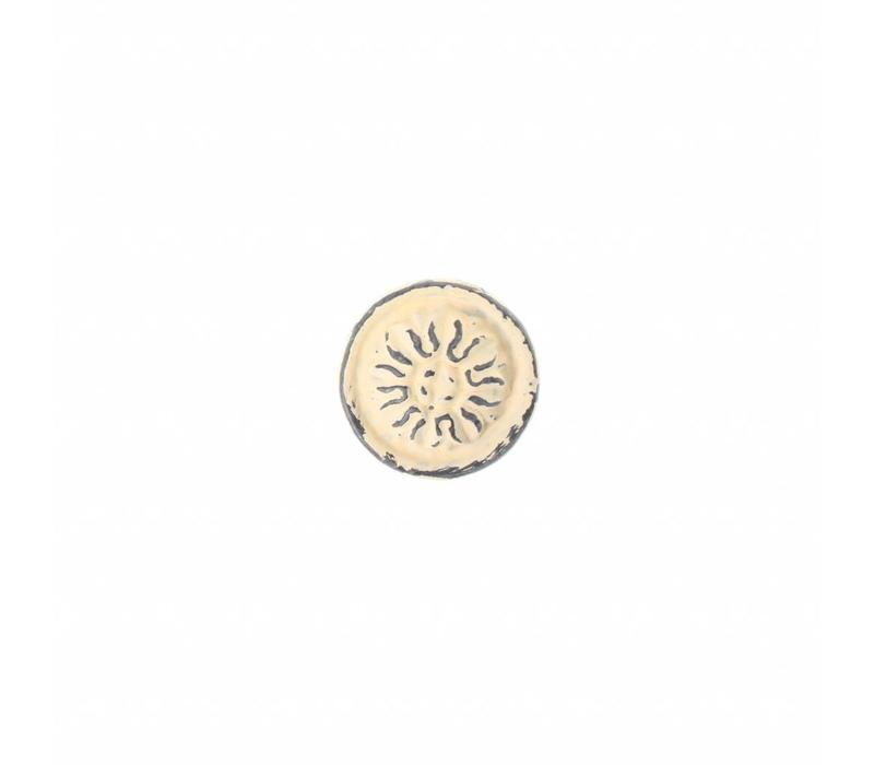 """VK3C French Kitchen Collection """"Vintage"""" Knob, Ivory Yellow"""