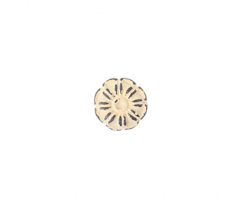"""VK1C French Kitchen Collection """"Vintage"""" Knob, Ivory Yellow"""