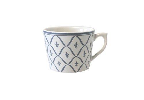 Dépôt d'Argonne Dépôt d'Argonne Cappuccino-Tasse Fleur de Lys Grijs