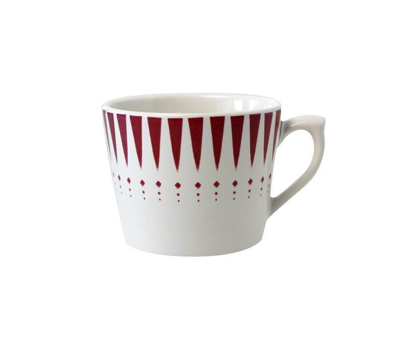 Dépôt d'Argonne Cappuccino-Tasse Arlequin Rot