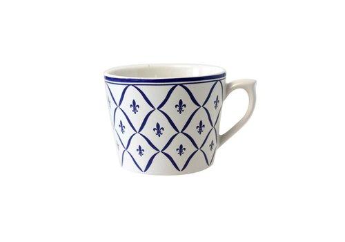 Dépôt d'Argonne Dépôt d'Argonne Cappuccino-Tasse Fleur de Lys Blau
