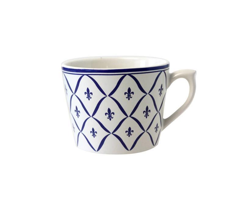Dépôt d'Argonne Cappuccino Kop Fleur de Lys, Blauw