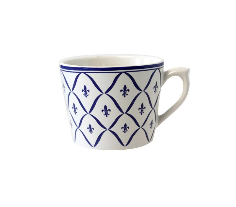 Dépôt d'Argonne Cappuccino-Tasse Fleur de Lys Blau