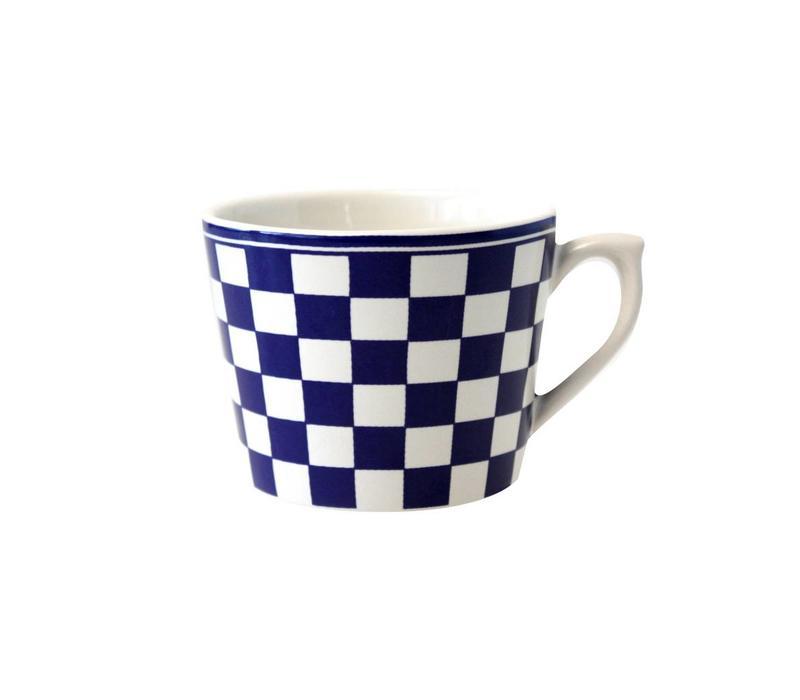 Dépôt d'Argonne Cappuccino-Tasse Damier Blau