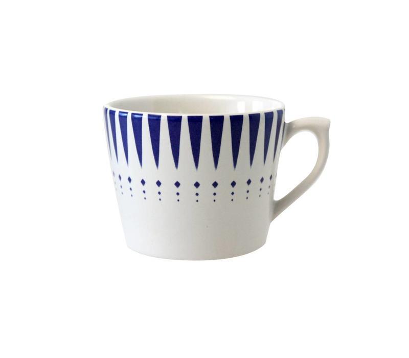 Dépôt d'Argonne Cappuccino-Tasse Arlequin Blau