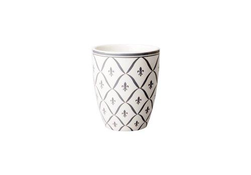 Dépôt d'Argonne Dépôt d'Argonne Mug Fleur de Lys, Grey