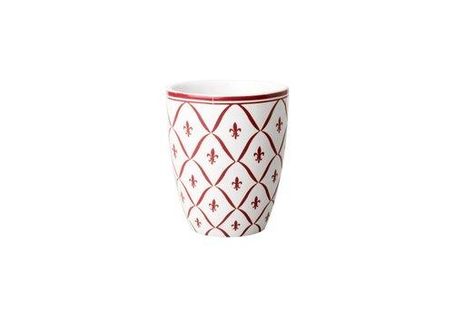Dépôt d'Argonne 3632 Dépôt d'Argonne Mug Fleur de Lys, Red