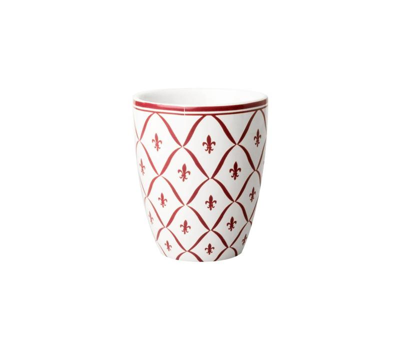 3632 Dépôt d'Argonne Mug Fleur de Lys, Red