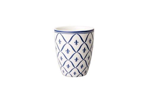 Dépôt d'Argonne Dépôt d'Argonne Mug Fleur de Lys, Blue