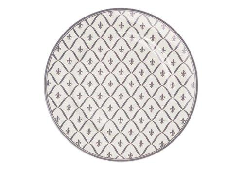 Dépôt d'Argonne Dépôt d'Argonne Dinner Plate 27cm Fleur de Lys, Grey