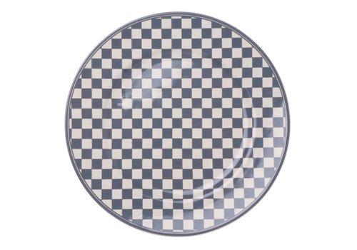 Dépôt d'Argonne Dépôt d'Argonne Dinner Plate 27cm Damier, Grey