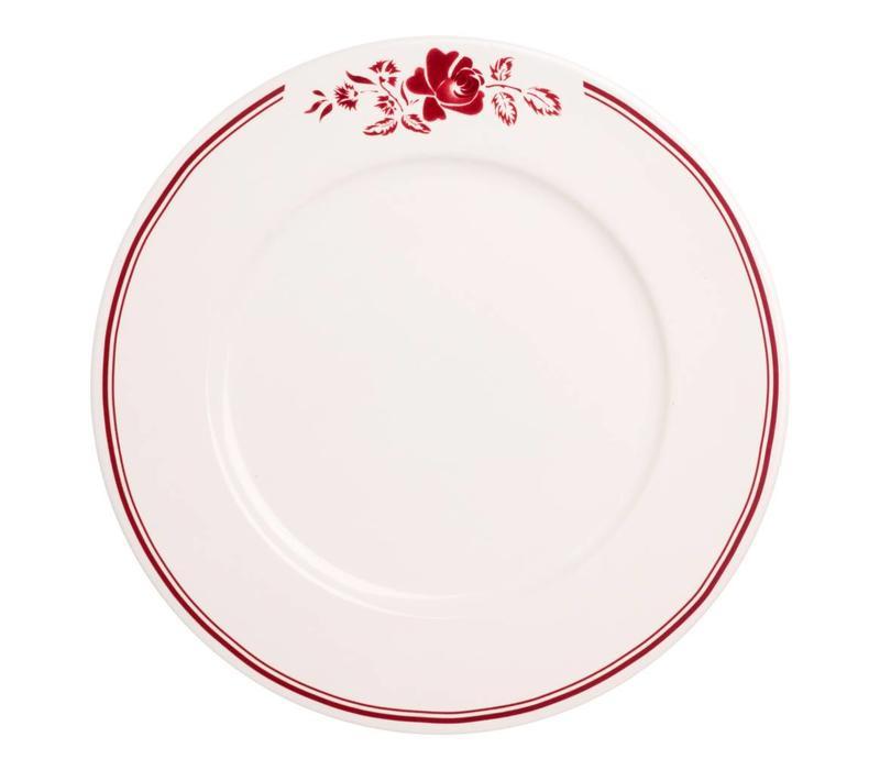 Dépôt d'Argonne Dinner Plate 27cm Rose, Red