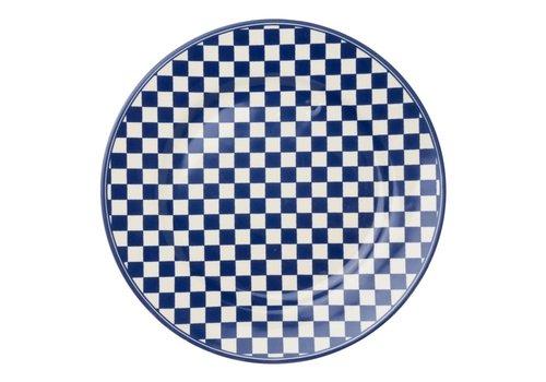 Dépôt d'Argonne Dépôt d'Argonne Dinner Plate 27cm Damier, Blue