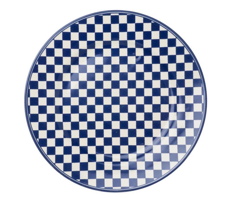 Dépôt d'Argonne Dinner Plate 27cm Damier, Blue