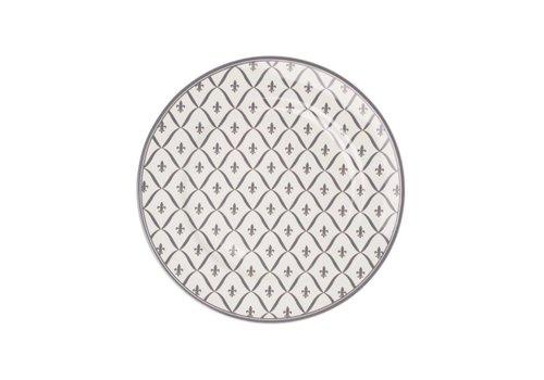 Kom Amsterdam Dépôt d'Argonne Breakfast Plate 23cm Fleur de Lys, Grey