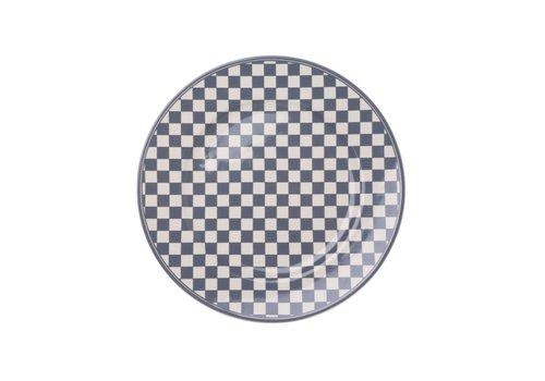 Kom Amsterdam Dépôt d'Argonne Breakfast Plate 23cm Damier, Grey