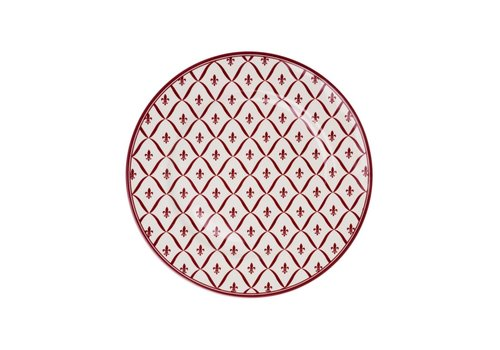Kom Amsterdam Dépôt d'Argonne Breakfast Plate 23 cm Fleur de Lys, Red