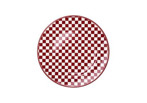 Kom Amsterdam Dépôt d'Argonne Breakfast Plate 23 cm Damier, Red