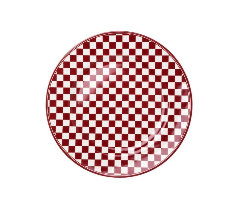 Dépôt d'Argonne Frühstücksteller 23cm Damier Rot