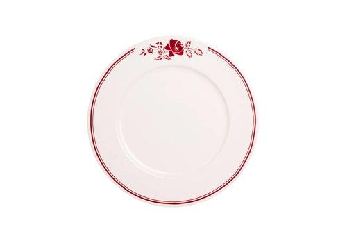 Kom Amsterdam Dépôt d'Argonne Breakfast Plate 23cm Rose, Red